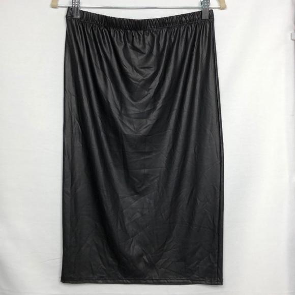 01682861c7fe5 Ashley Stewart Skirts | Faux Leather Pencil Skirt Size 12 | Poshmark